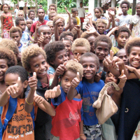 Blond hair caused by a TYRP1 Mutation in Solomon Island school children
