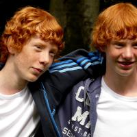 redheaded twins